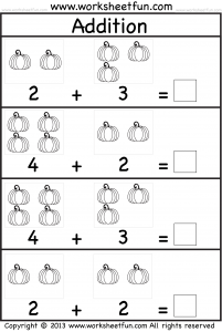 Kindergarten Math Facts and Printable Worksheets - 2018