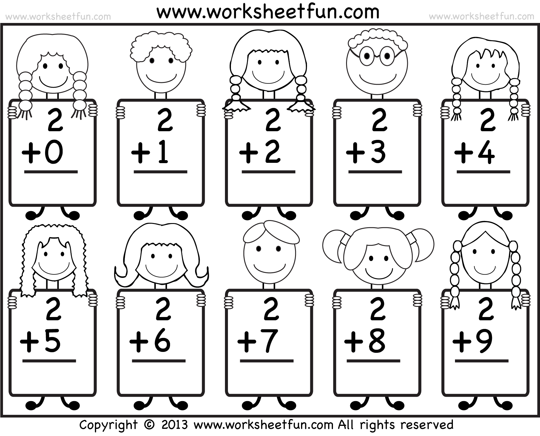 K Grade Math Adding