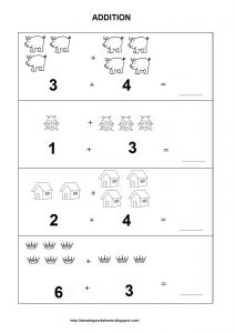 Kindergarten Math Addition Worksheet