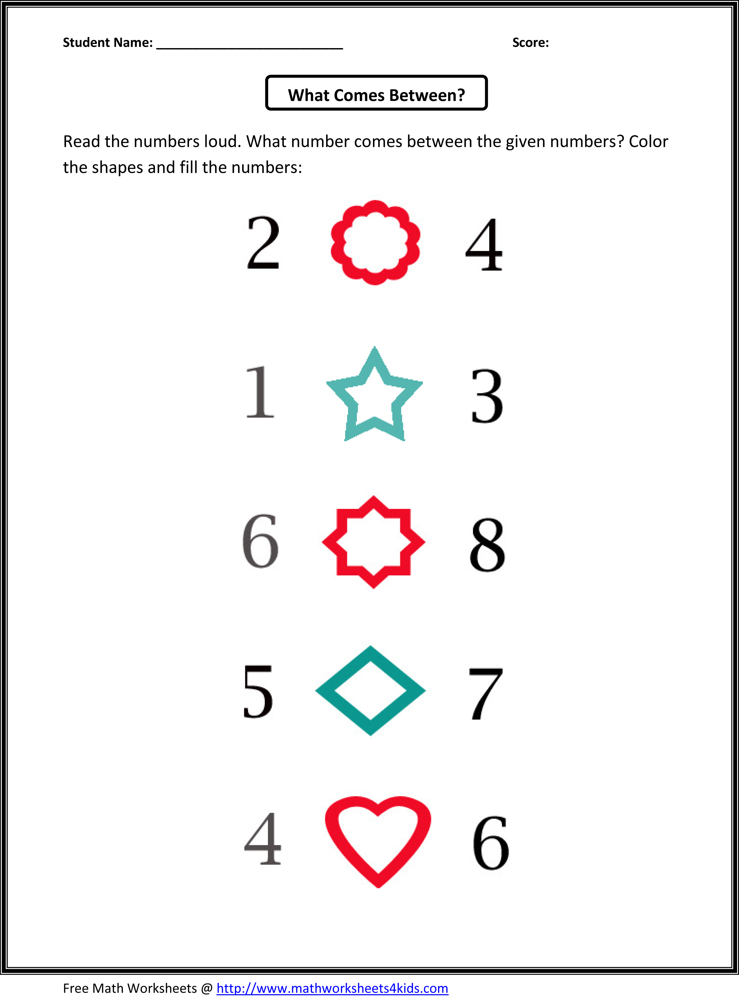 Learning Numbers Kindergarten