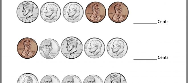 4th Grade Math Printable Worksheet Counting Coins