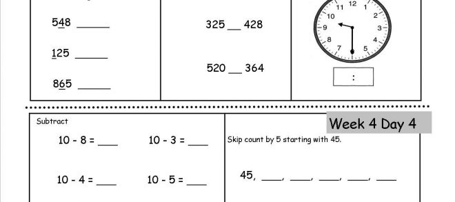 th grade math review worksheet practice