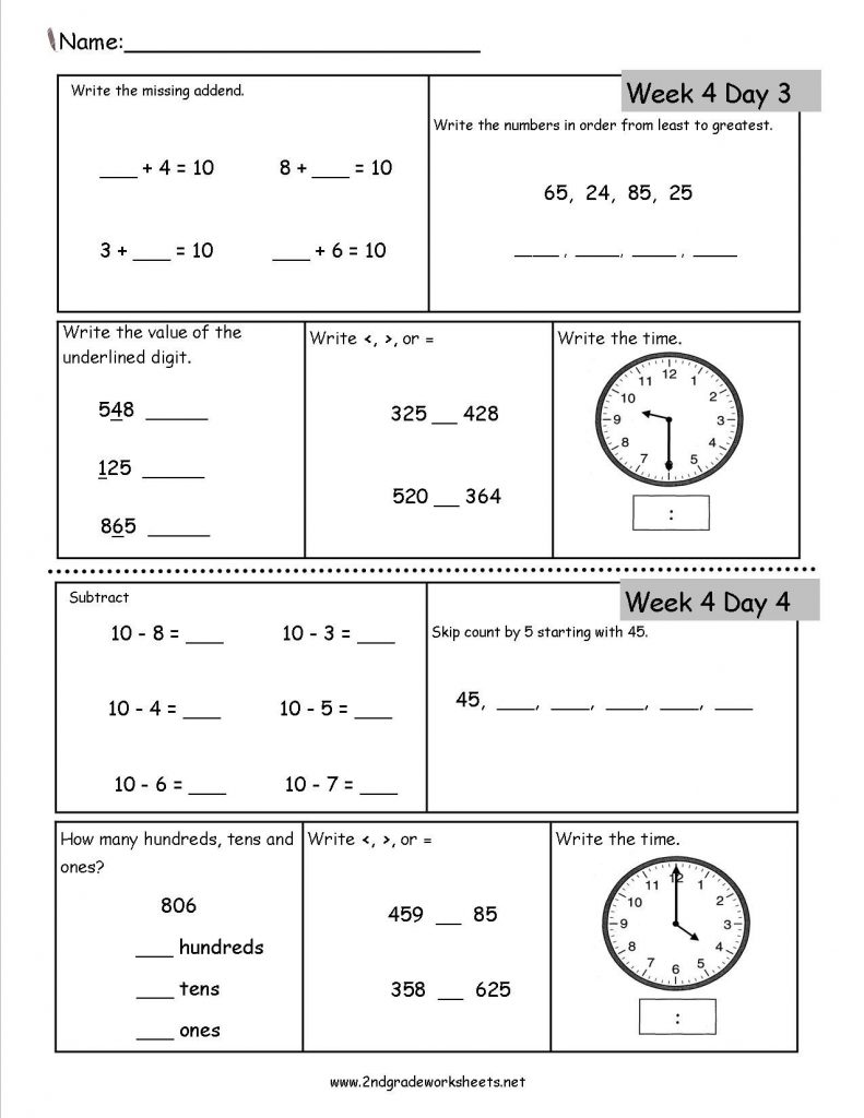 Free 7th grade math review worksheets