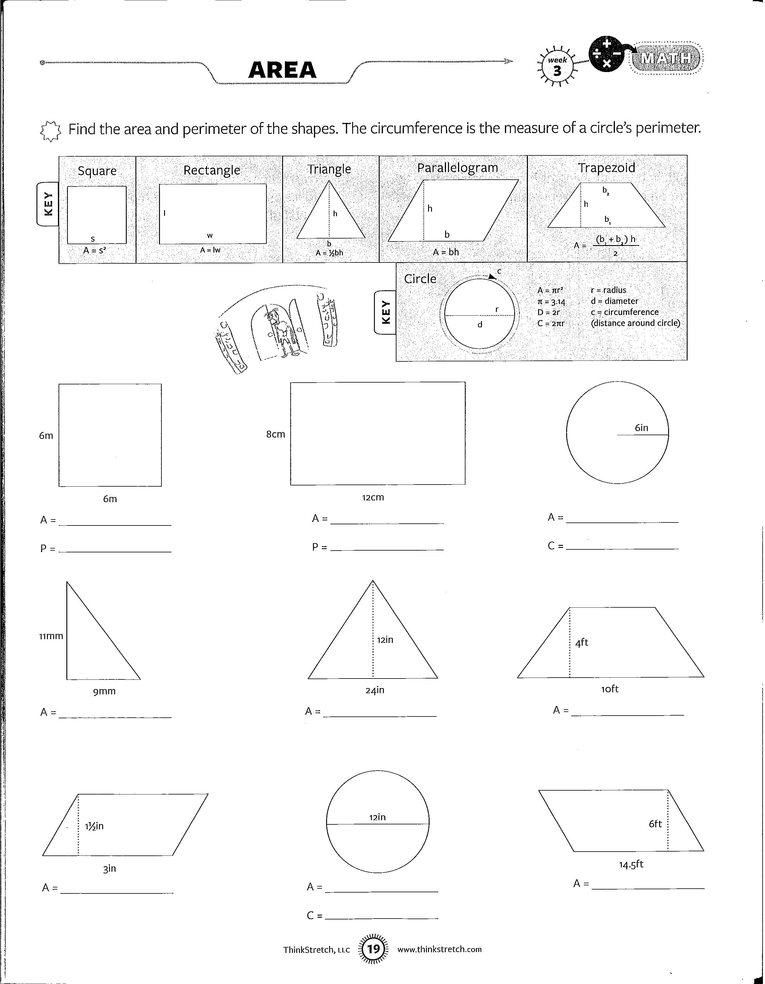 - Area And Perimeter Worksheets