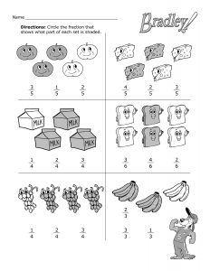 Fun With Fractions Worksheet