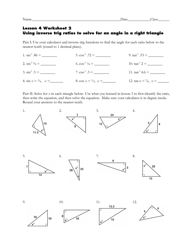 Inverse Ratios Right Triangle Trigonometry Worksheet. Just Click Download Link In Many Resolutions At The End Of This Sentence And You Will Be Redirected On Direct File Then Must Right. Worksheet. Worksheet Trig Ratios In Right Triangles Answers At Clickcart.co