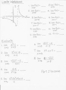 Limits Worksheet