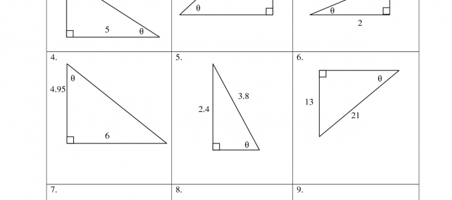 Right Triangle Trigonometry Practice Worksheets