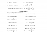 Simplify Expressions and Graphing Cycles   Pre calculus Worksheet